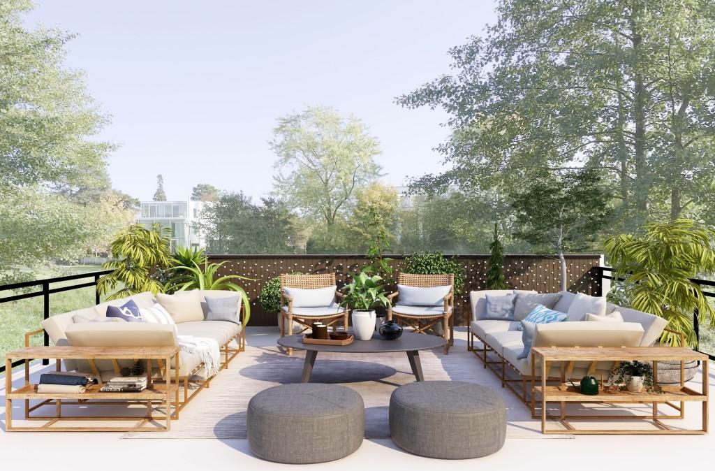 Aménagement de la terrasse et du jardin