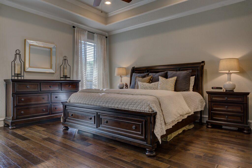 decoration-chambre-coucher-meubles-rustiques